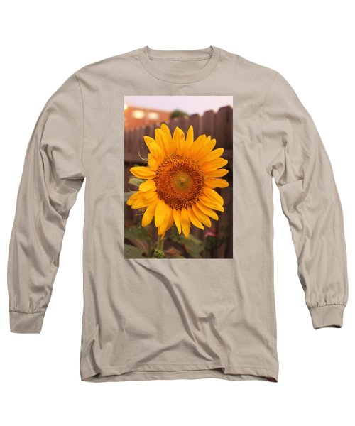 Golden Sunflower Closeup Long Sleeve T-Shirt