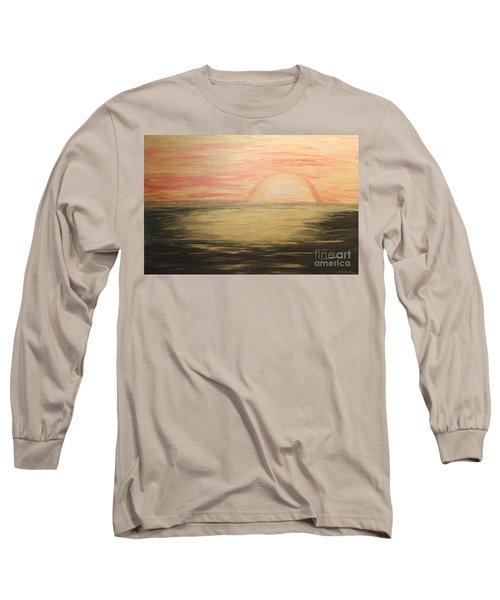 Golden Sunset Long Sleeve T-Shirt by Rachel Hannah