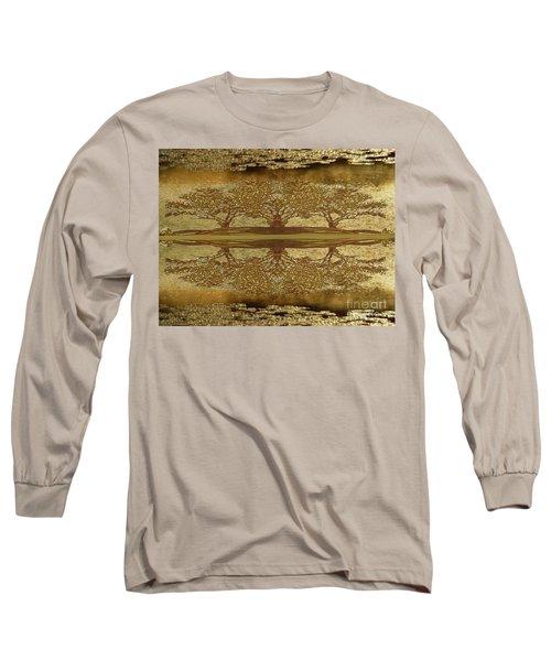 Golden Trees Reflection Long Sleeve T-Shirt