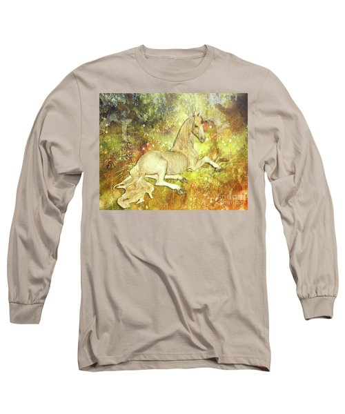 Golden Unicorn Dreams Long Sleeve T-Shirt