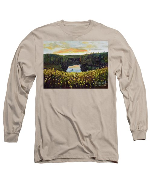 Goldenrods On Davenport Lake-ellijay, Ga  Long Sleeve T-Shirt