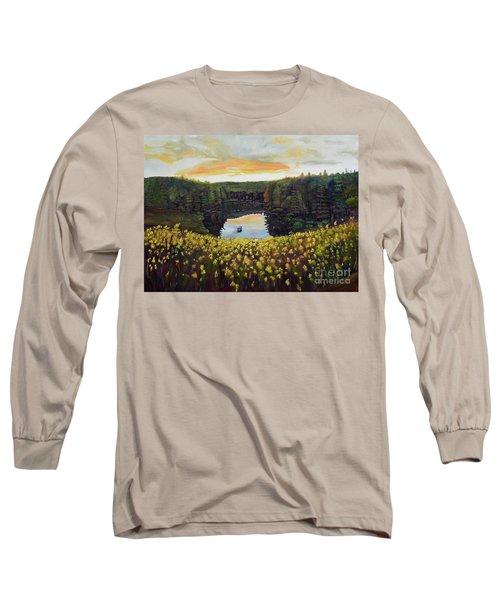 Goldenrods On Davenport Lake-ellijay, Ga  Long Sleeve T-Shirt