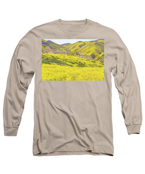 Long Sleeve T-Shirt featuring the photograph Goldfields And Temblor Hills by Marc Crumpler