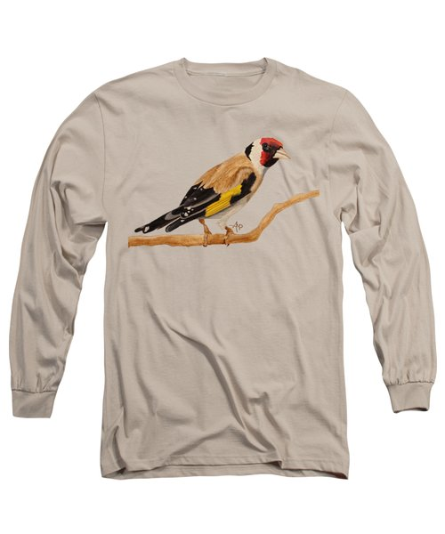 Goldfinch Long Sleeve T-Shirt by Angeles M Pomata