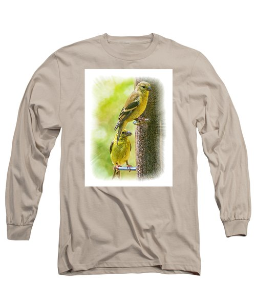 Long Sleeve T-Shirt featuring the photograph Goldfinches by Constantine Gregory