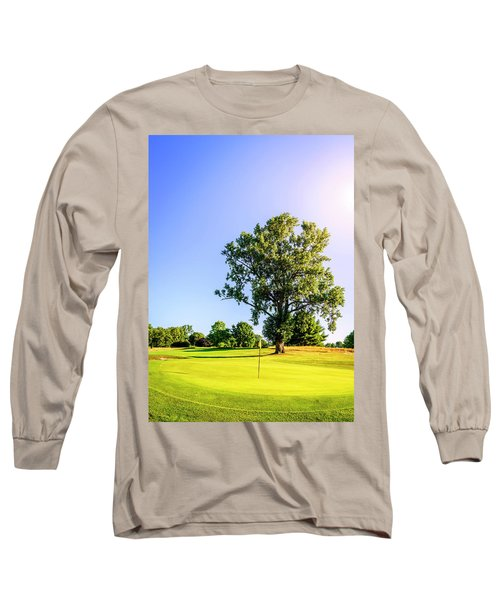 Long Sleeve T-Shirt featuring the photograph Golf Course by Alexey Stiop