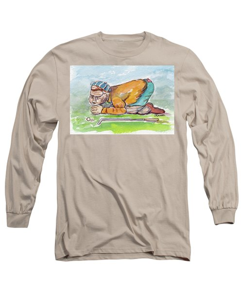 Golfer With Hot Air Long Sleeve T-Shirt