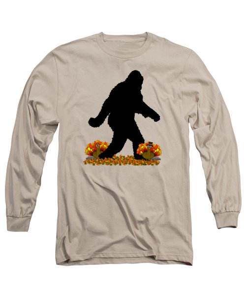Gone Thanksgiving Squatchin' Long Sleeve T-Shirt by Gravityx9   Designs