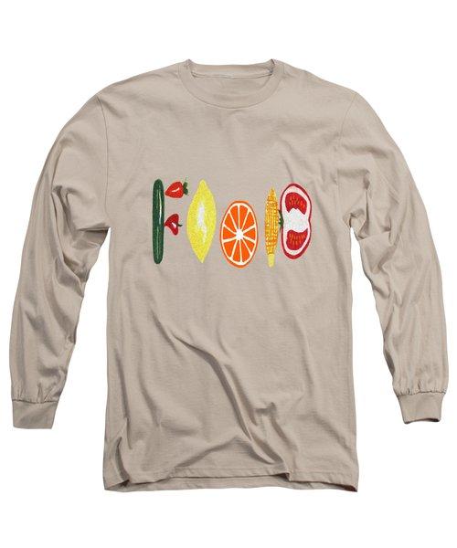 Good Eats - Food Typography Long Sleeve T-Shirt