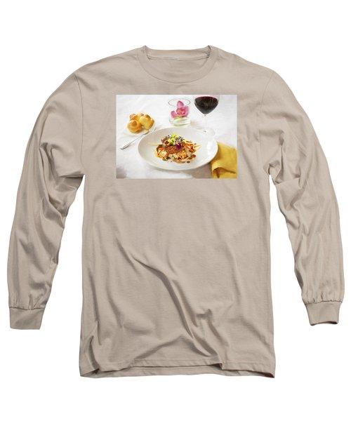 Good Eats Long Sleeve T-Shirt by Rich Franco