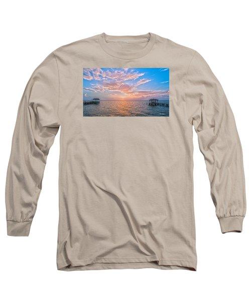 Good Morning Aransas Bay Long Sleeve T-Shirt