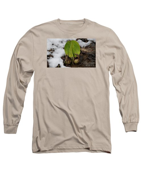 Long Sleeve T-Shirt featuring the photograph Goodbye Winter by Randy Bodkins