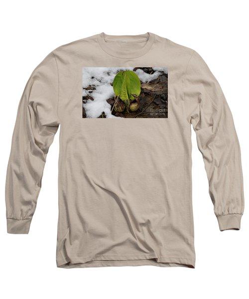 Goodbye Winter Long Sleeve T-Shirt by Randy Bodkins