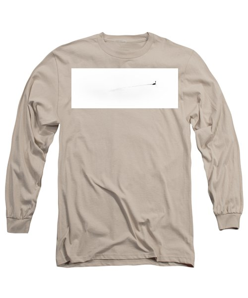 Goose On The Pond Long Sleeve T-Shirt by David Patterson