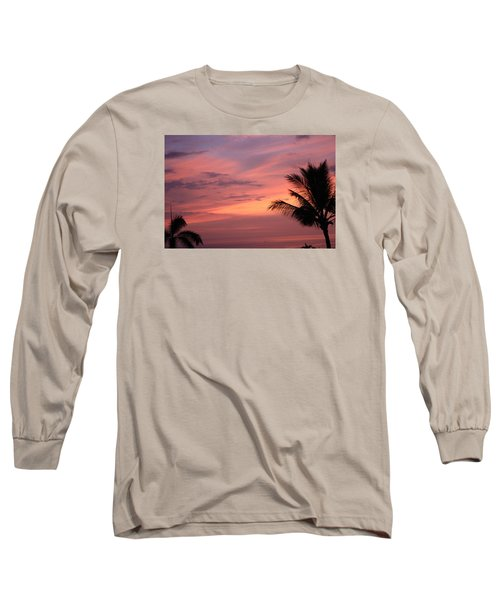 Long Sleeve T-Shirt featuring the photograph Gorgeous Hawaiian Sunset - 3 by Karen Nicholson