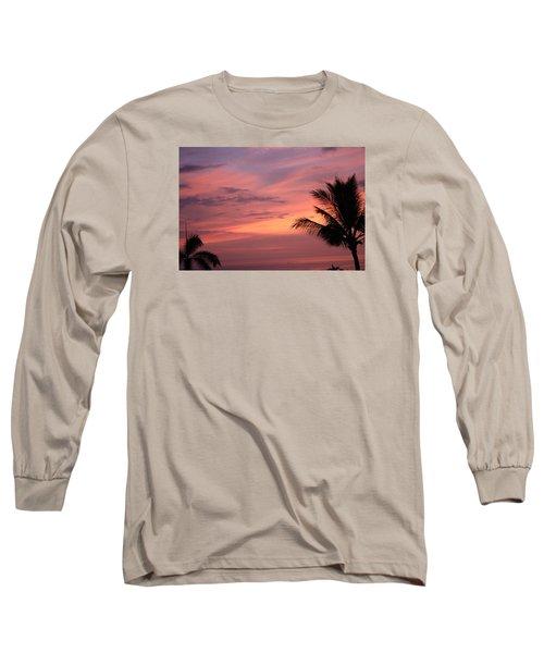 Gorgeous Hawaiian Sunset - 3 Long Sleeve T-Shirt by Karen Nicholson