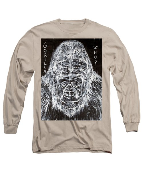 Long Sleeve T-Shirt featuring the painting Gorilla Who? by Fabrizio Cassetta