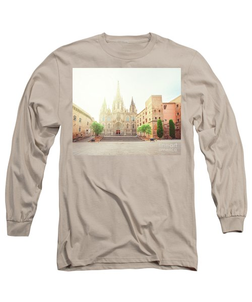 Gotic Cathedral  Of Barcelona Long Sleeve T-Shirt