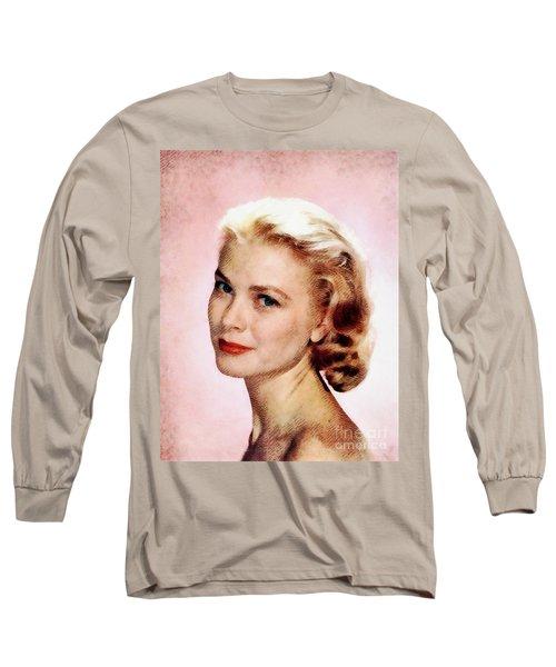 Grace Kelly, Vintage Actress Long Sleeve T-Shirt