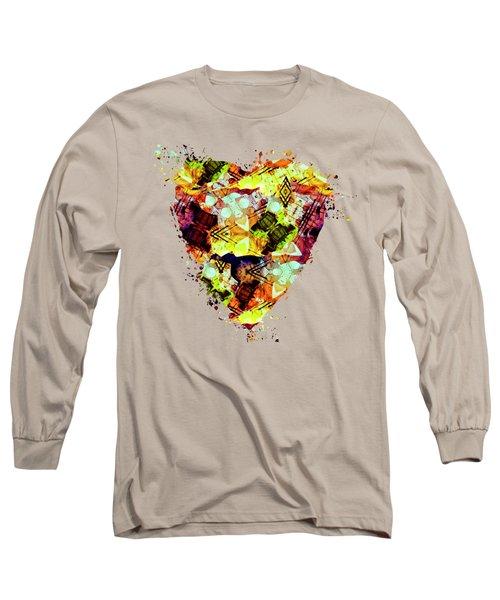 Graffiti Style - Markings On Colors Long Sleeve T-Shirt