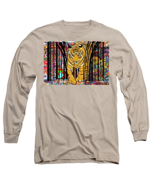 Graffiti Tiger Long Sleeve T-Shirt