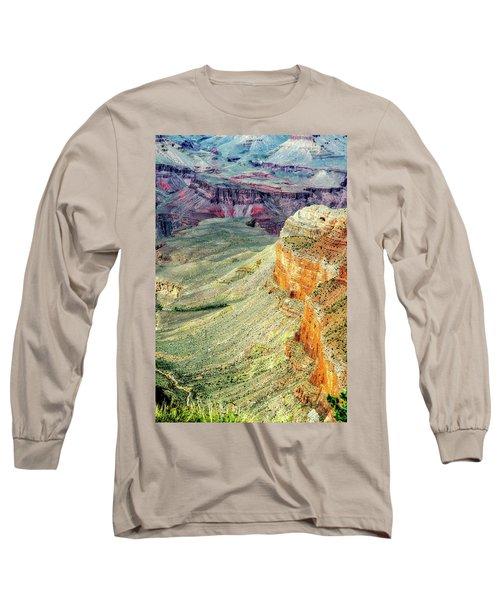 Grand Canyon Abstract Long Sleeve T-Shirt by Robert FERD Frank