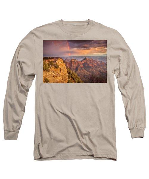 Grand Canyon North Rim Rainbow Long Sleeve T-Shirt