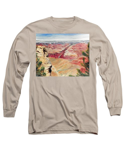 Grand Canyon Overlook Long Sleeve T-Shirt by Sherril Porter
