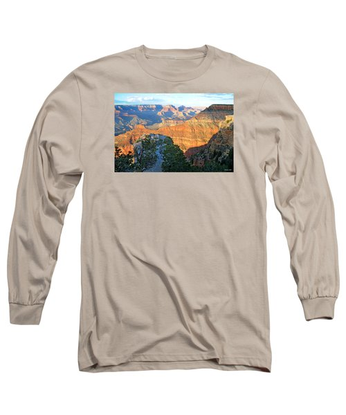 Grand Canyon South Rim At Sunset Long Sleeve T-Shirt