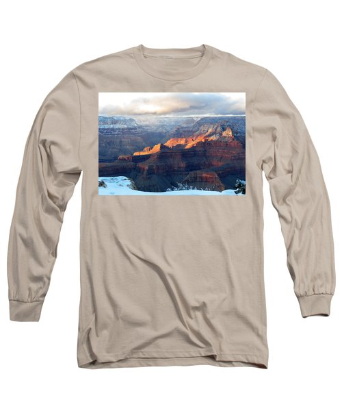 Grand Canyon With Snow Long Sleeve T-Shirt