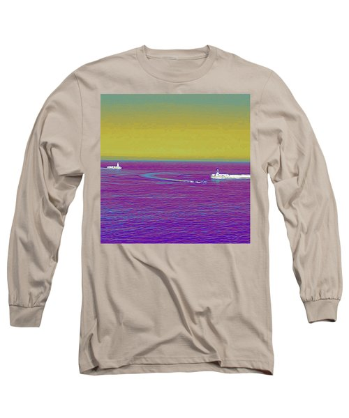 Purple Sea Long Sleeve T-Shirt