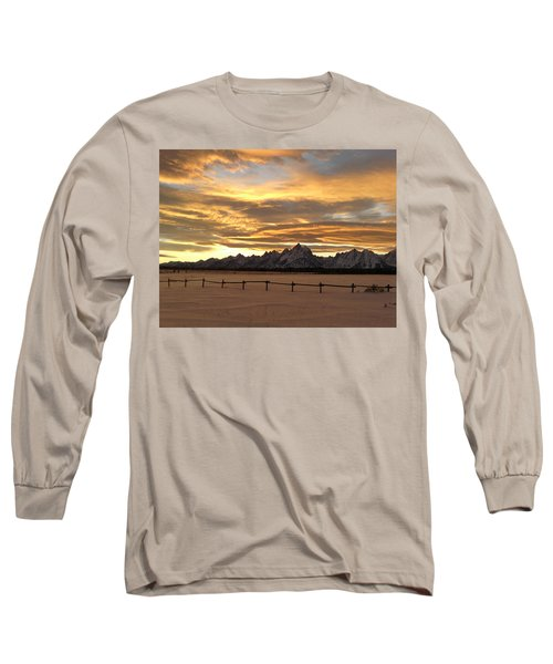 Grand Tetons In January Glory Long Sleeve T-Shirt