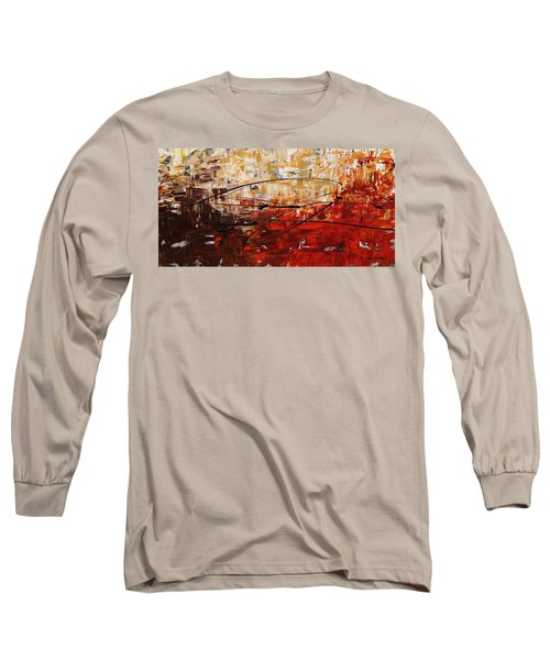 Long Sleeve T-Shirt featuring the painting Grand Vision by Carmen Guedez