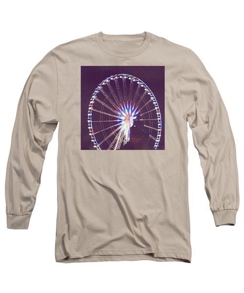 Grande Roue De Paris By Night Long Sleeve T-Shirt
