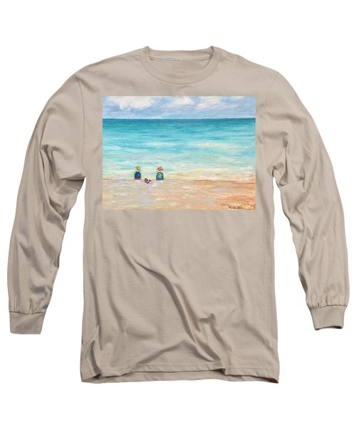 Long Sleeve T-Shirt featuring the painting Grandmas View by Norma Duch
