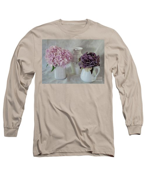 Long Sleeve T-Shirt featuring the photograph Grandmother's Vanity Top by Sherry Hallemeier