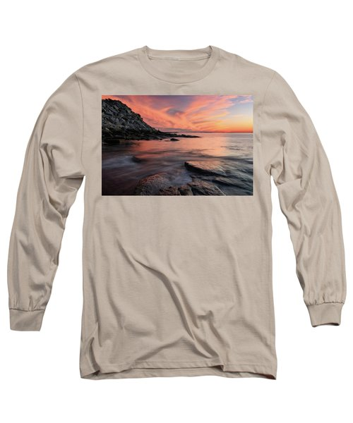 Granite Sunset Rockport Ma. Long Sleeve T-Shirt