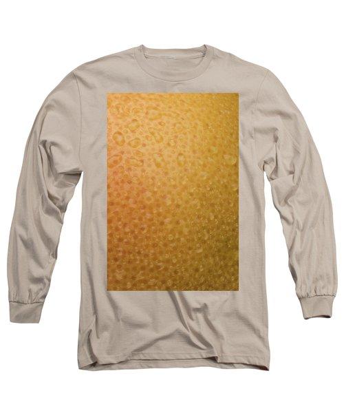 Grapefruit Skin Long Sleeve T-Shirt by Steve Gadomski