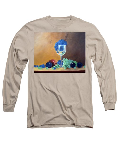 Long Sleeve T-Shirt featuring the painting Grapes And Plums by Susan Dehlinger
