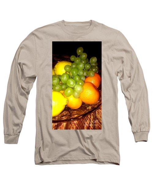 Grapes, Mandarins, Lemons Long Sleeve T-Shirt