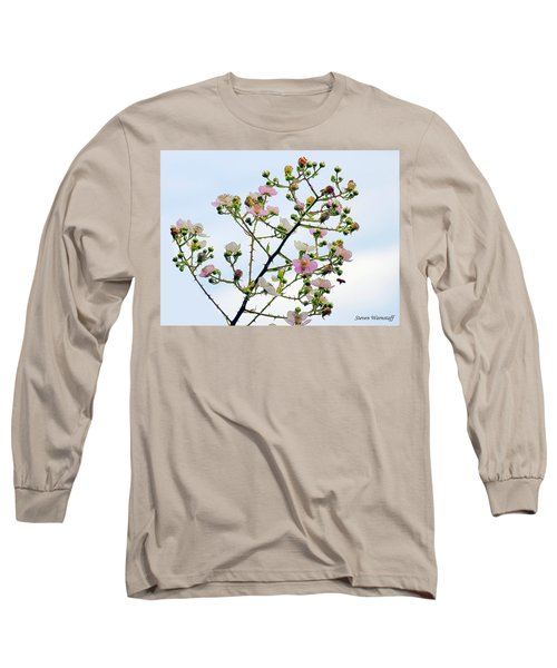 Grasping For The Hands Of Heaven Long Sleeve T-Shirt by Steve Warnstaff