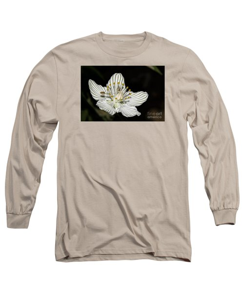 Grass Of Parnassus Long Sleeve T-Shirt by Barbara Bowen