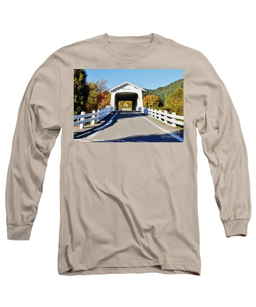 Grave Creek Covered Bridge 1 Long Sleeve T-Shirt by Ansel Price