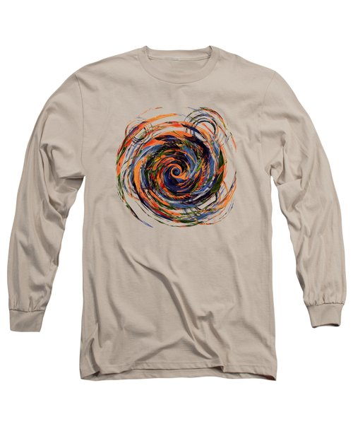 Gravity In Color Long Sleeve T-Shirt by Deborah Smith