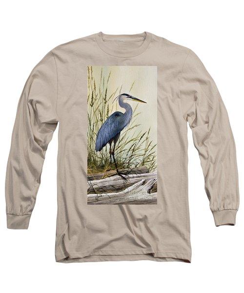 Great Blue Heron Splendor Long Sleeve T-Shirt