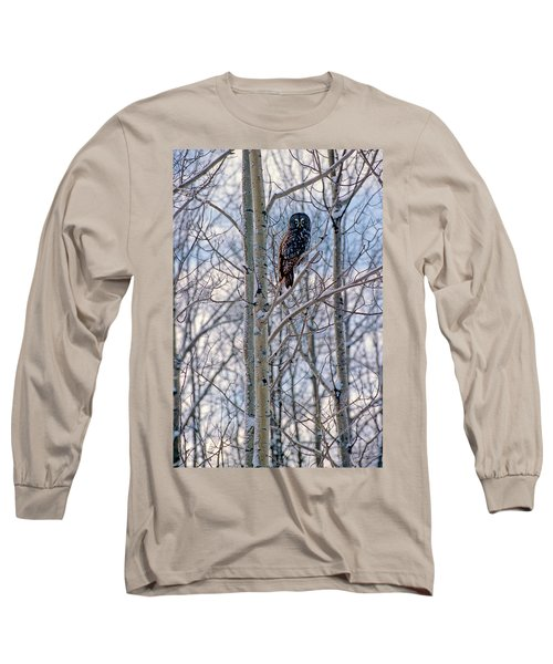 Great Grey Owl Long Sleeve T-Shirt
