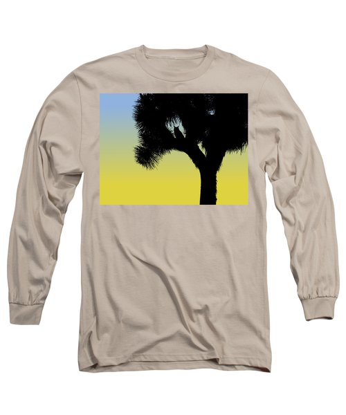 Great Horned Owl In A Joshua Tree Silhouette At Sunrise Long Sleeve T-Shirt