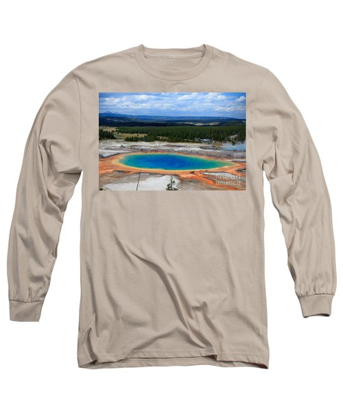 Great Prismatic Spring   Long Sleeve T-Shirt