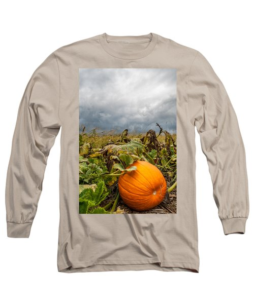 Great Pumpkin Off Center Long Sleeve T-Shirt