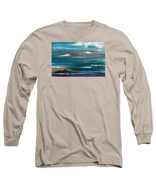 Long Sleeve T-Shirt featuring the painting Great Salt Lake by Jane Autry